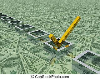 Dollars Check Mark