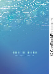 Magical underwater bubbles vertical template background -...