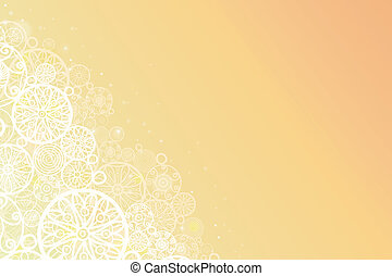 Glowing doodle shapes horizontal background - Vector glowing...