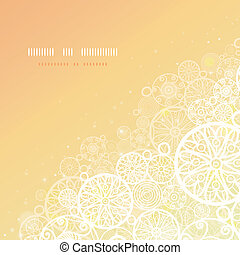 Glowing doodle shapes square background - Vector glowing...
