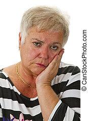 Sad female senior