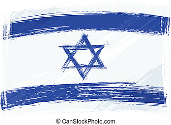 Grunge Israel flag - Israel national flag created in grunge...