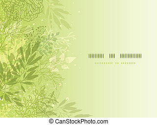 Fresh glowing spring plants horizontal background - Vector...