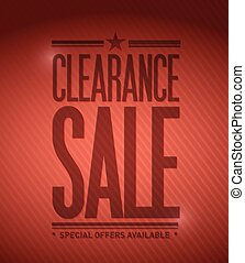 clearance sale illustration design - clearance sale concept...