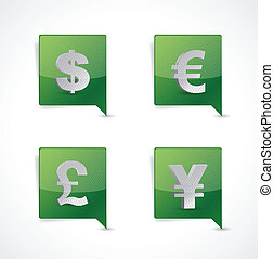 pin pointer currency symbol signs