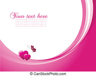 Valentines day background - Decorative Valentines day...