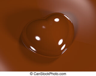 chocolate candy in the form of a  heart