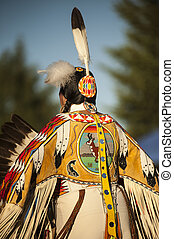 Antelope - The beading pattern on the back of this buckskin...