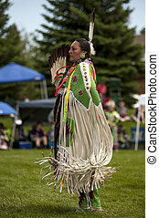 Ladies Buckskin Dancer - Slow, elegant dancing to the beat...