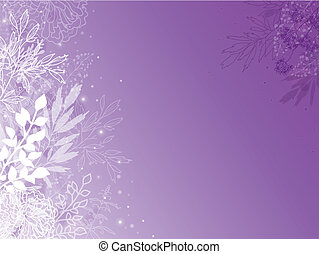 Magical silhouette plants horizontal background - Vector...