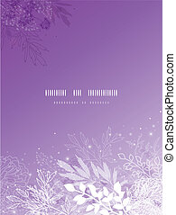 Magical silhouette plants vertical template background -...