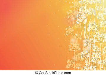 Magical autumn forest horizontal background