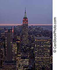 Empire Night - A night time view of the Empire State...