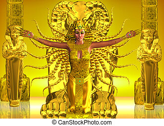 A Golden Egyptian Temple - Ancient Egyptians believed in...