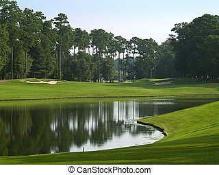 Course Pond - A beautiful pond on a Myrtle Beach golf course...