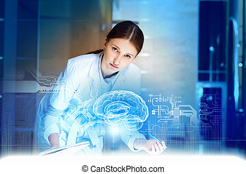 Attractive woman doctor - Image of young woman doctor....