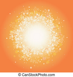Magical plants sunburst background - Vector magical plants...