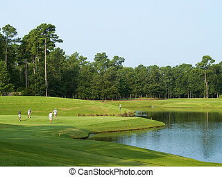 Golf Day - Golfers on this beautiful Myrtle Beach, South...