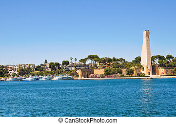 Panoramic view of Brindisi Puglia Italy