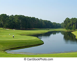 Good Golf Day - A lone golfer on this beautiful Myrtle...