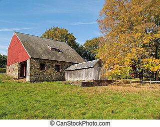 Old Autumn Barn