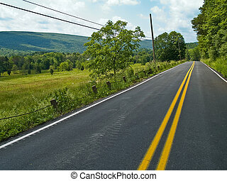 Open Road - A view of a rural country road somewhere in...