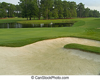 Sand Trap View - A sand trap and pond on this beautiful...