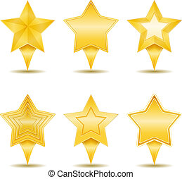 Stars Icons - Set of icons of stars, vector eps10...