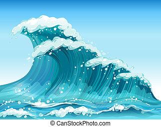 Big waves - Illustration of the big waves