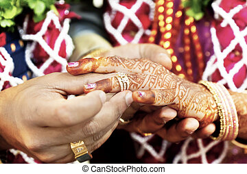 Great Hindu Wedding With ring - Horizontal color capture...