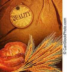 golden ears of wheat bun - vector golden ears of wheat bun...