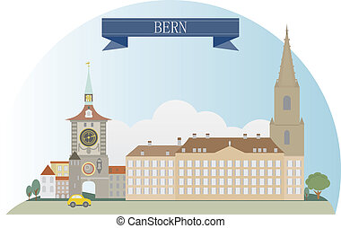 Bern, Switzerland. Vector for you design