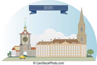 Bern, Switzerland. Vector for you design