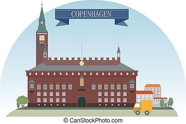 Copenhagen, Denmark. Vector for you design