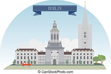 Dublin  - Dublin, Ireland. Vector for you design