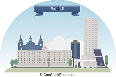 Madrid, Spain Vector for you design