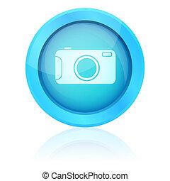 Blue vector photo button