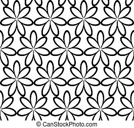 Seamless floral ornament, vector