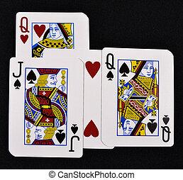 jouer, cartes, Amour