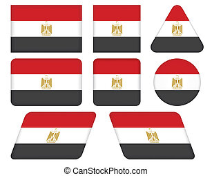 buttons with flag of Egypt