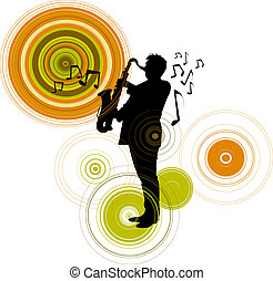 Saxophone man background