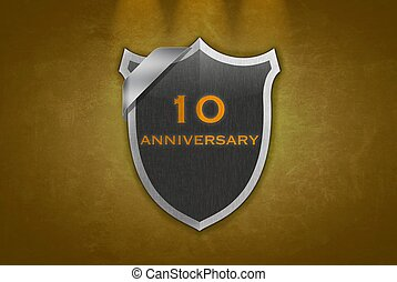 10 Anniversary - illustration with 10 anniversary signal on...