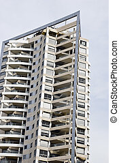 Multistory - The brand new modern multistory building on the...