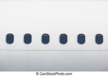 Windows of the airplane - Windows of the white airplane -...