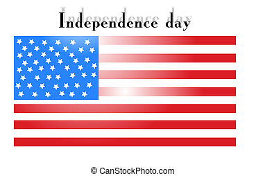 Independence Day with American flag