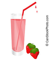 Fresh strawberry juice