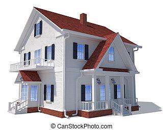 Clip art et illustrations de petites maisons 14 835 for Exterieur maison 3d