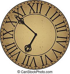 antique clock face - Vintage worn antique face