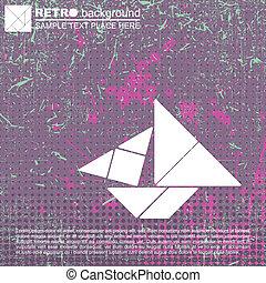 Tangram ship - vector illustration