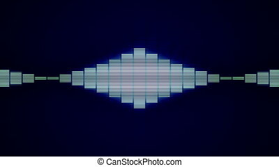 Blue Wave Horizontal - Animation of waveform.